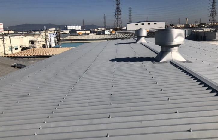 折半屋根錆止め塗装