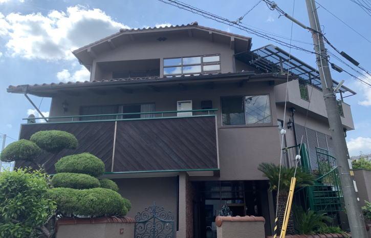 鉄骨3階建て住宅施工後